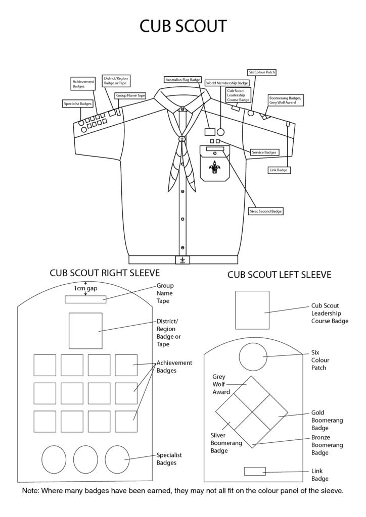 Cub Uniform Badge Placement
